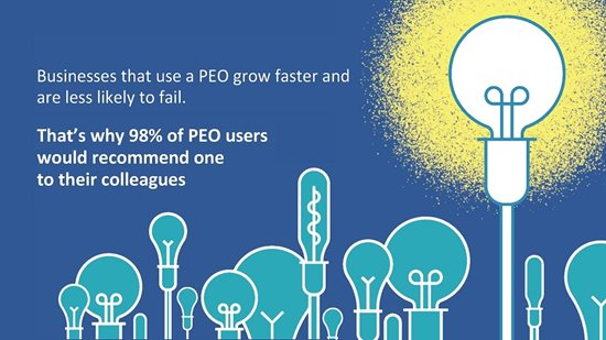 Improved growth with a PEO fact with lightbulb graphic